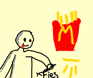 Ghandi writes about fries