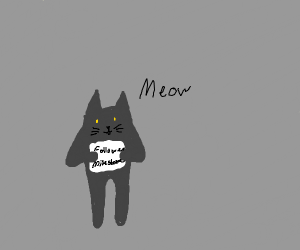 A Cat OC Drawn as a Follower Milestone