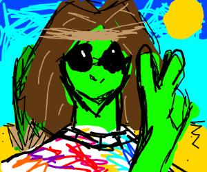 hippie alien