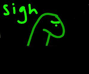 Depressed dinosaur