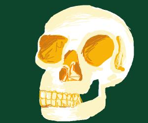skeleton with price tag