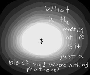 man questions life