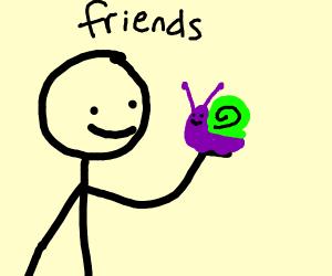 A snail friend!!