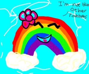 Rainbow says it isn't like other rainbows