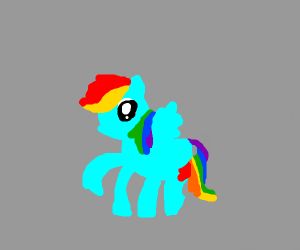 rainbow dash in.... Horse Show