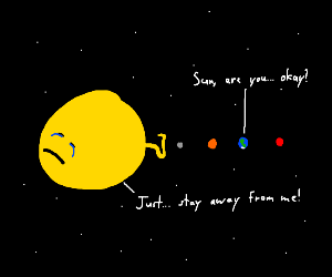 Sun wants planets to stay away