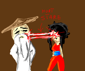 Girl from ninjago hurts sensei wu
