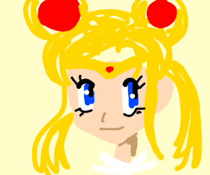 the blonde pigtail sailor moon