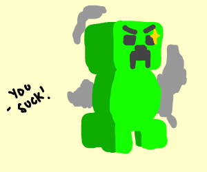 Creeper about to blow