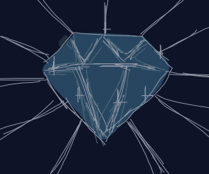 A bright, shiny jewel