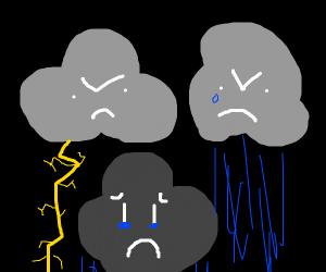 Angry/Sad Clouds