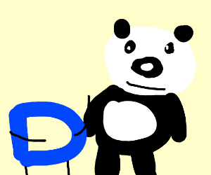 Drawception D meets a panda