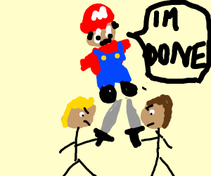 Mario is done with sword fighters