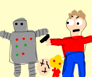 robot and a boy killed someone