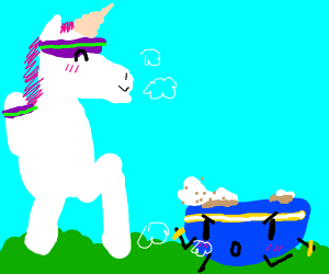Unicorn jogging with Cereal