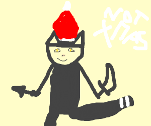 Ninja cat thinks its christmas