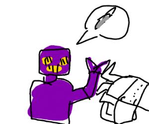 purple robot requires scalpel