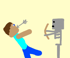 Steve was slain by Skeletor.