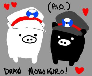 Draw monokuro PIO