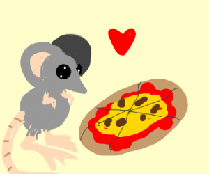 the mouse likes pizza