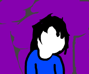 Sad girl in purple abstract Forrest