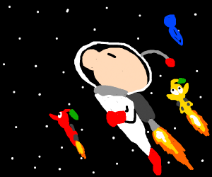 olimar with his pikmin