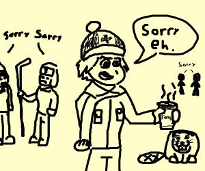 Canadian man apologizes.