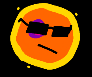 the sun has a bad tan line around its eyes