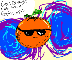Cool Orange And Purple Explosions