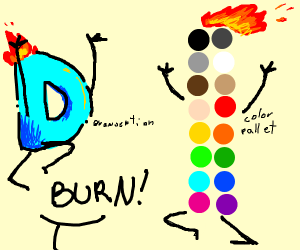 BURN DRAWCEPTION, BURN THE COLOUR PALLET