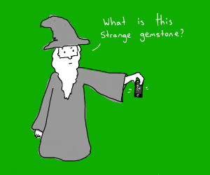Wizard is confuzzled by iphone