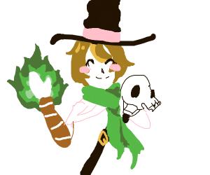 friendly necromancer witch