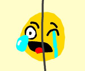 Emoji weeps in two different ways