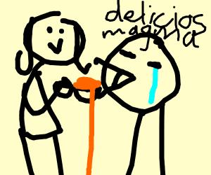 mommy feeds me magma again