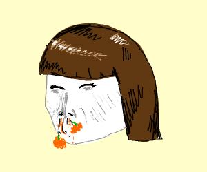 White Girl Snorting Pumpkin Spice
