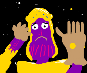 Man Facepalms With Infinity Gauntlet