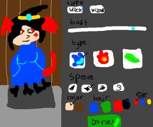 wizard character customization menu