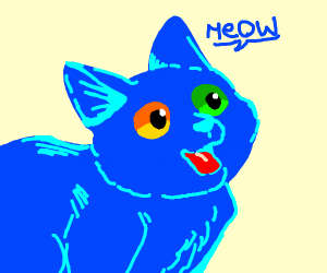 blue cat with different colored eyes
