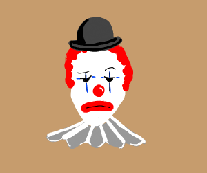 Unenthusiastic clown