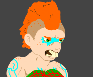 Angry punk guy