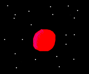 Red Ball In Space