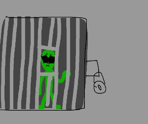 sad alien in area 51