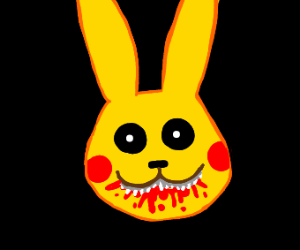 Dark Pikachu with bloody teeth :(