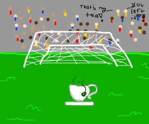 Left your tea on the soccer field