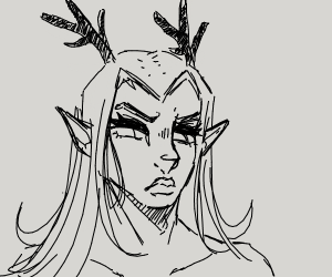 disgruntled guy with antlers