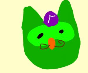 The Duolingo owl is now Waluigi