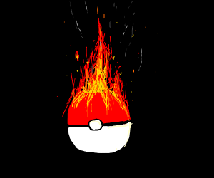 pokeball on fire