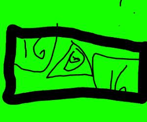 16 dollar bill with Drawception & Illuminati