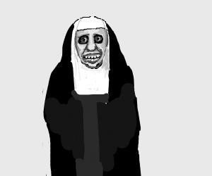 Very scary Nun