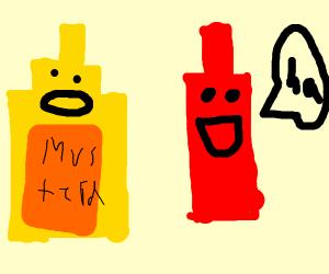 mustard telling joke